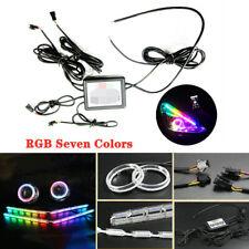 Car LED Angel Eye Dazzle Flowing water Horse racing Tear lamp RGB Crystal Lamp