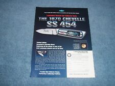 Franklin Mint 1970 Chevelle SS454 LS6 Vintage Collector Knife Ad from 1997