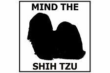 Mind the Shih Tzu - Gate/Door Ceramic Tile Sign