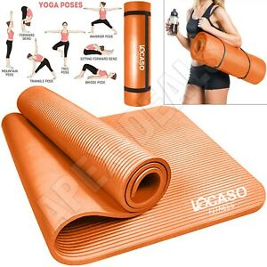 Yoga Mat for Pilates Gym Exercise Carry Strap 10mm Thick Large Comfortable UK