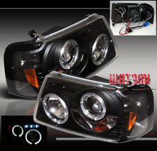 01-11 FORD RANGER HALO LED PROJECTOR HEADLIGHTS BLACK 02 03 04 05 06 07 08 09 10
