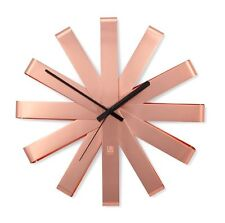 Umbra RIBBON WALL CLOCK - COPPER 30cm in diam