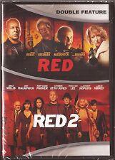 RED 1 & 2 - DVD Bruce Willis Morgan Freeman Helen Mirren BRAND NEW