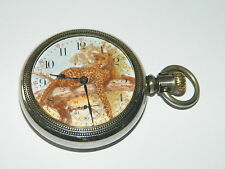 Elgin,Leopard,Open Face,Taschenuhr,Pocket Watch,USA,TU,Montre,Orologio,RaRe!