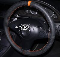 Cuero Perforado Funda para Volante Para Mazda MX5 MK2 98-05 + Naranja Correa