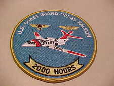 U.S. COAST GUARD HU-25 FALCON GUARDIAN JET 2000 HOURS  PATCH