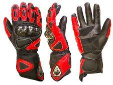 Guanti Pista Racing Moto Pelle Protezioni Perfessionali XS S M L XL XXL BI ESSE