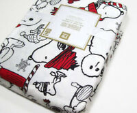 Pottery Barn Teen Multi Colors Peanuts Holiday Snoopy Flannel Twin Duvet Cover