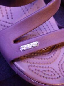 Crocs Womens Size 11 Patricia Wedge Slip on Sandals Black