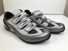 NIKE Granfondo Silver/Black Women 9.5 - Nearly New Cycling Spin CLIP IN Shoes