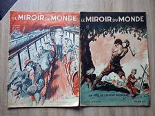 Genre L' ILLUSTRATION : LE MIROIR DU MONDE 2 revues 1933 Couvertures PAUL ORDNER