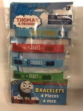4//Pkg Thomas The Tank Rubber Bracelet DISCONTINUED