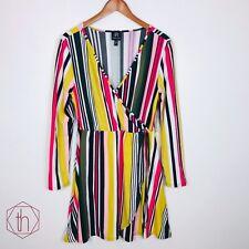 Derek Heart Juniors Wrap Dress XL Striped