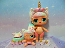 LOL SURPRISE *SPARKLE SERIES UNICORN DOLL* & LIL BABY SISTER* WITH ACCESSORIES