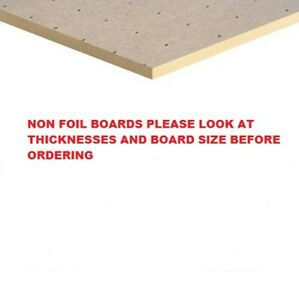 Seconds Insulation Board  NON FOIL  Kingspan/Ecotherm Various Thicknesses ,Sizes