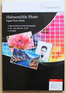 Hahnemuhle A3+ Digital Photo Gloss Baryta Inkjet Paper - 25 Sheets