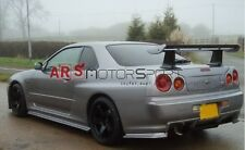 CARBON OE STYLE REAR SPOILER WING WITH JUN BASE FOR 99-02 SKYLINE R34 GTR GTT