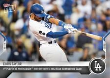 New listing 2021 TOPPS NOW CARD LOS ANGELES DODGERS CHRIS TAYLOR #1001 3 HRs IN ELIMINATION