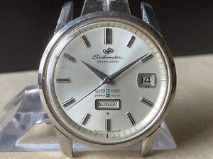 Vintage SEIKO Automatic Watch/ SEIKOMATIC WEEKDATER Cal.400 33J 1963