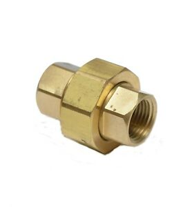 1/2 Npt Female 3 Piece Union Coupling Brass Pipe Fitting Air Water Oil Gas Fuel