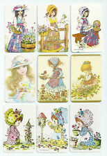 #600.023 Blank Back Swap Cards -MINT- Lot of 9 - Patchwork & Pinafore girls