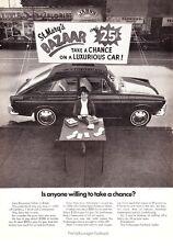 "1969 VW Fastback Sedan photo ""St. Mary's Bazaar"" Volkswagen promo print ad"