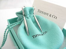 Tiffany & Co 18K Gold Feather Dangling Dangle Earrings Excellent Rare Vintage