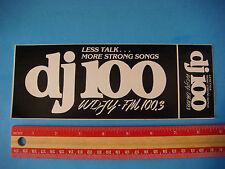 "Radio Station Music STICKER ~  WDJY ""DJ100"" Washington D.C. Less Talk More Songs"