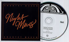 NIGHT MOVES Country Queen 2013 UK 1-trk promo CD Domino