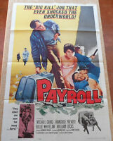 Payroll MoviePoster, Original, Folded, One Sheet, Michael Craig, Whitelaw, 1962