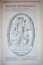1838 Le Magasin Pittoresque. M. Edouard Charton. Sixieme Annee. In French!