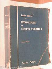 ISTITUZIONI DI DIRITTO PUBBLICO Paolo Barile Cedam 1987 Giuridica Manuale di e