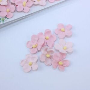 Mini Flowers Pink 60pcs Crafts Card Embellishments FL005