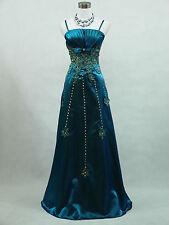 Cherlone Plus Size Blue Ballgown Wedding Evening Formal Bridesmaid Dress 12-14