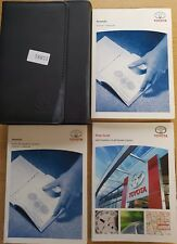 TOYOTA AVENSIS OWNERS MANUAL HANDBOOK WALLET  NAVIGATION 2008-2011 PACK 15881 !!