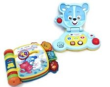 Vtech Toys Baby Bear Laptop & Rhyme & Discover Book Lights Educational Lot of 2