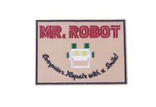Mr Robot - Computer Repair With a Smile - Aufnäher/Patch - 11,2 x 8,1cm