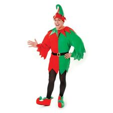 Adult's Santa's Elf Costume - Helper Fancy Dress Christmas Mens Santas Outfit
