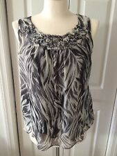 Talbots Animal Print Sleevless Silk Top Size 10 Petite NWT