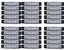 x30 24v 6SMD LED Delantero Blanco Claro Luces de marcaje Camión Trailer