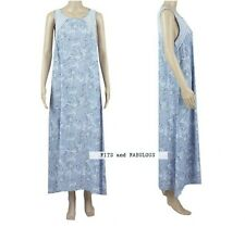 M&S Ladies Cornflower Blue Floral Long Full Length Nightdress Nightie Size 8-22