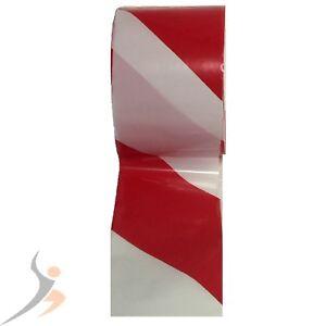 1 Rolle Absperrband 100m Flatterband Warnband Signalband in rot weiß Trassenband