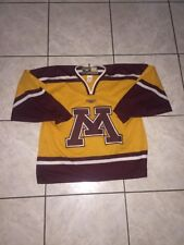 Universit Of Minnesota Hockey Jersey By Mission Hockey Sz Large Used Yellow