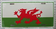 Wales Flag License Plate Aluminum Sign Car Tag Auto Vanity Welsh Red Dragon UK
