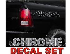 4x4 Truck Bed Decals, CHROME (Set) for Dodge Ram or Dakota