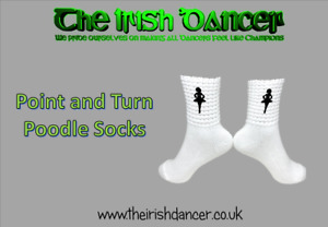 Point and Turn (turnout) Poodle Socks - Ultra Low