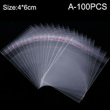 100pcs Transparent Opp Self Adhesive Seal Bag Resealable Poly Bags