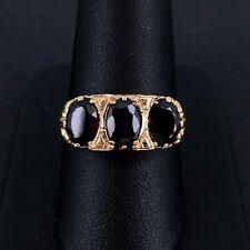 (Wi1) 9ct Gold Garnet Trilogy Ring 3.5gms Size T - 2005955-1-B