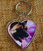 Akita Keyring Dog Key Ring heart shape gift Birthday Gift Mothers Day Gift