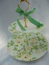 BRIDAL SHOWER WEDDING, 2 Tier Cake Stand, Serving Tray, Sanderson Gift Plate Cup